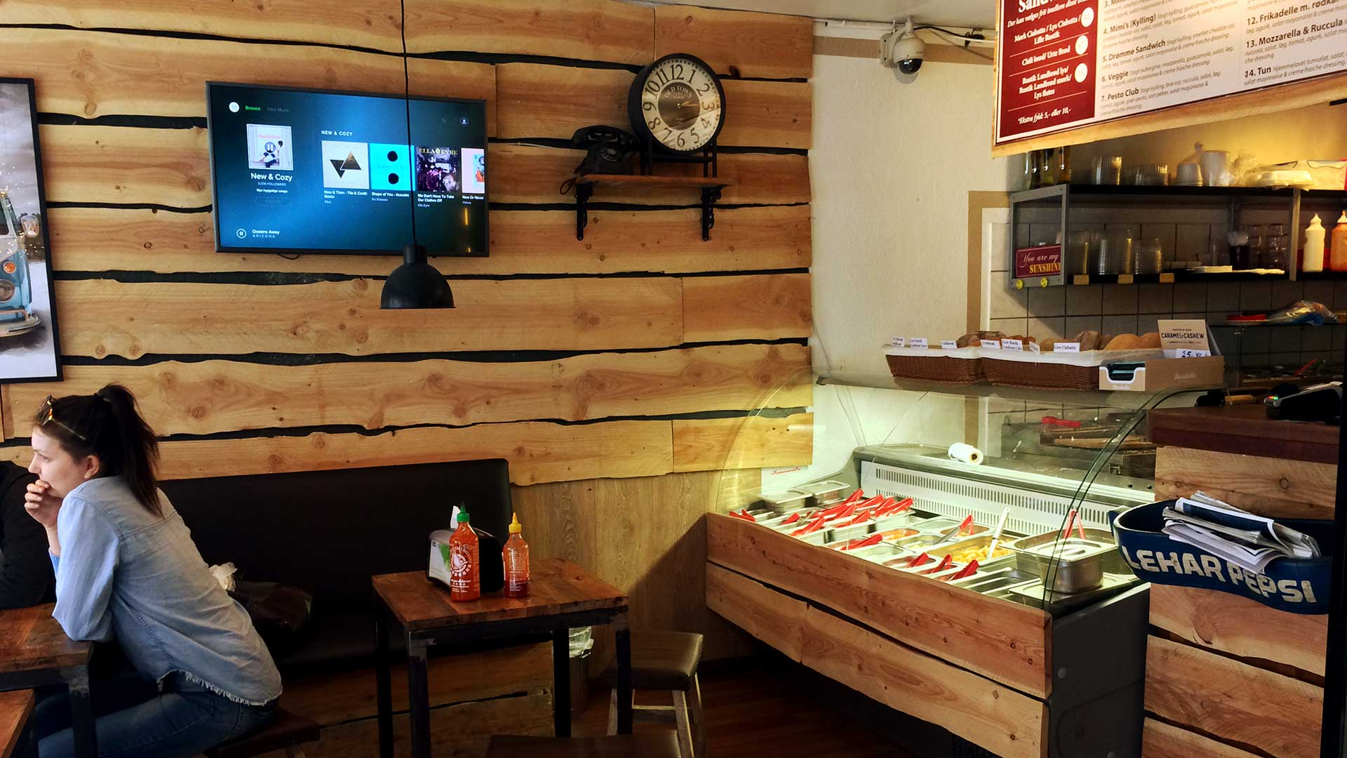 A photo of the inside of Sunshine Sandwich bar
