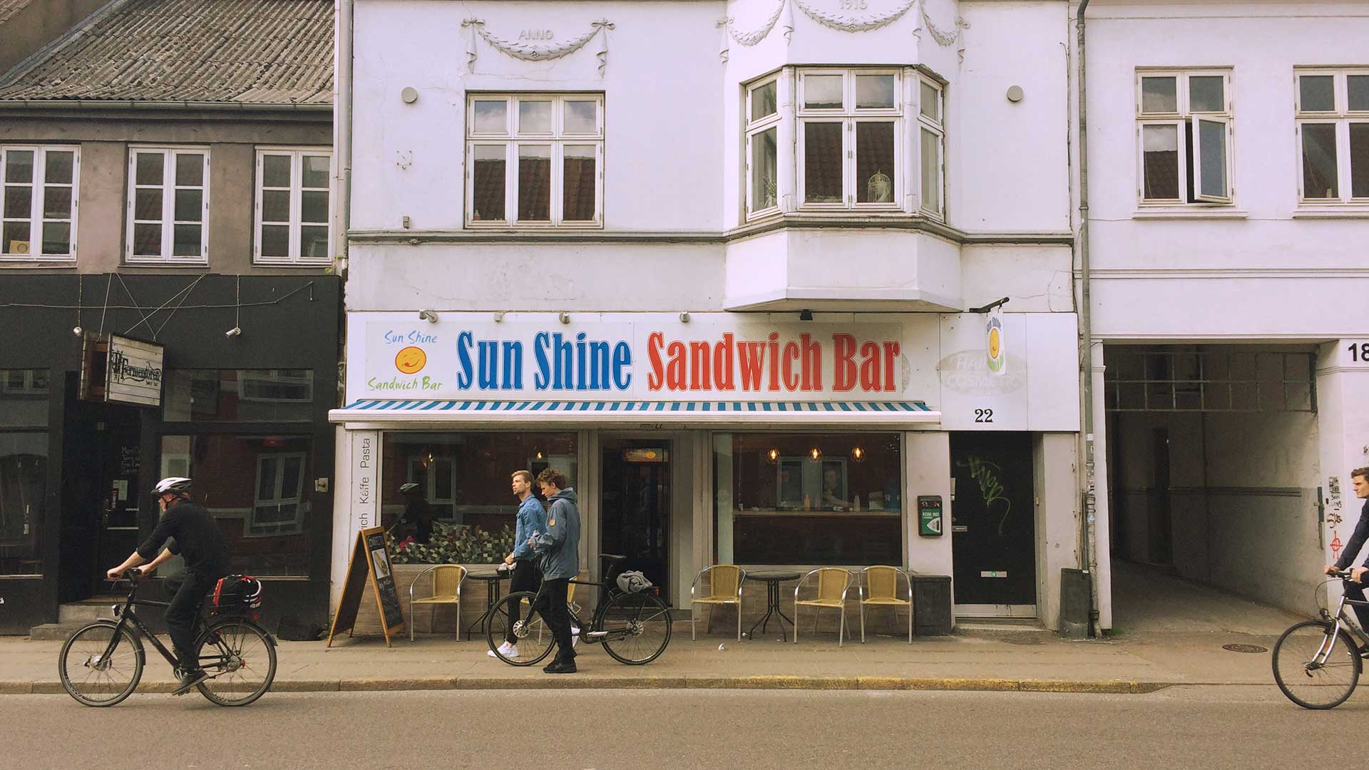 A picture of the exterior of Sunshine Sandwich bar